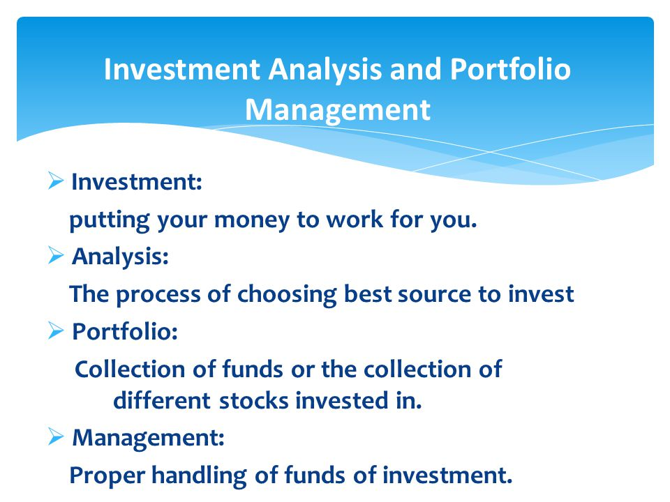 FB  Lec  Chapter   Introduction To Investment Analysis And