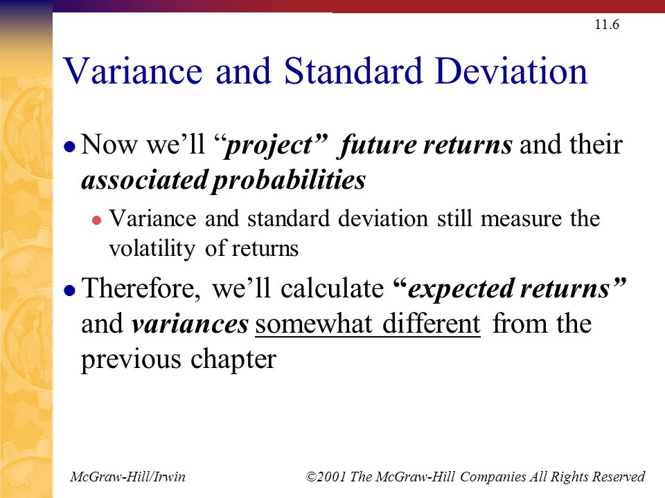 111 expected returns and variances ppt video online download variance and standard deviation ccuart Images