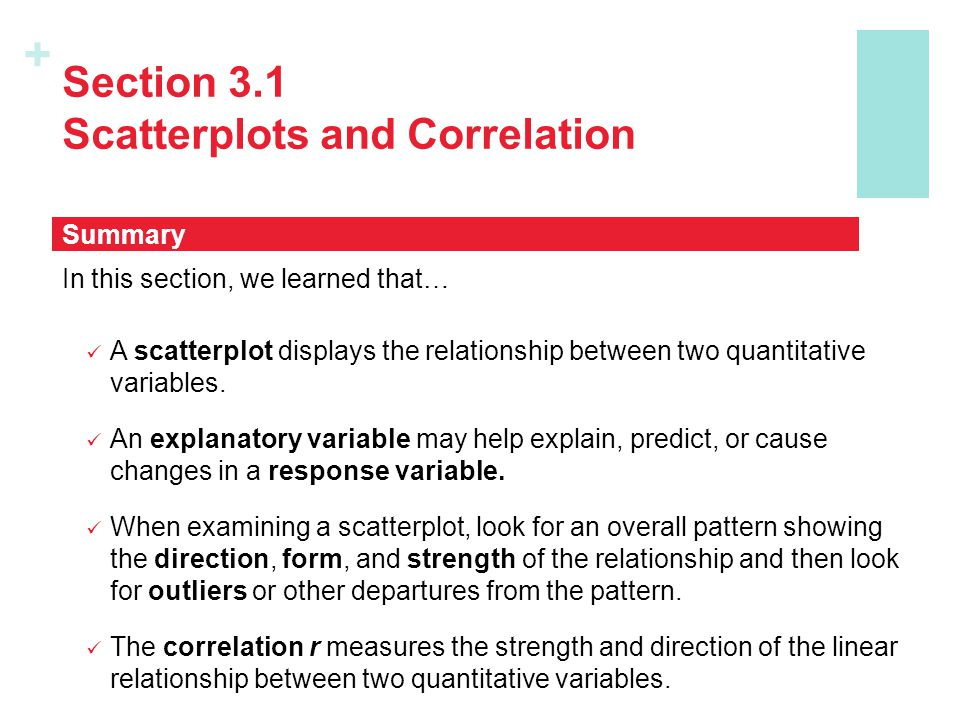 Section 3.1 Scatterplots and Correlation