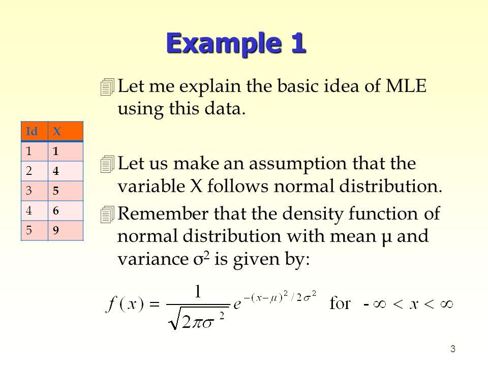 maximum likelihood estimator from pdf example