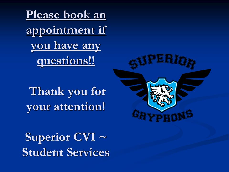 Please book an appointment if you have any questions