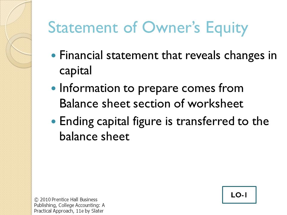 how to prepare statement of changes in equity