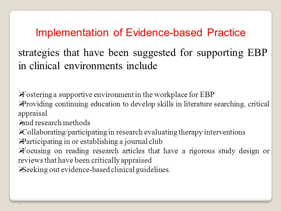 Evidence Base Practice in Physical Therapy - ppt video ...