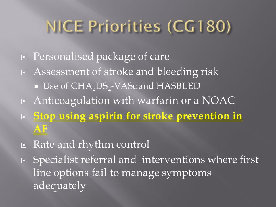 NICE Priorities (CG180) Personalised package of care