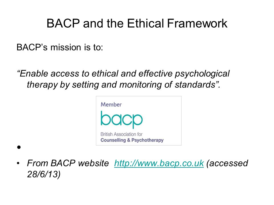 Ethical Framework for Good Practice in Counselling & Psychotherapy (2010)