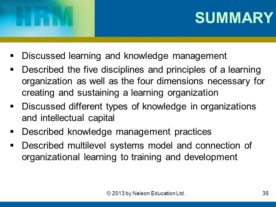 organizational learning and knowledge management in