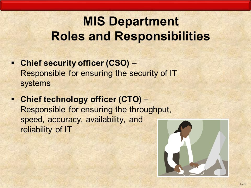 MIS Department Roles and Responsibilities