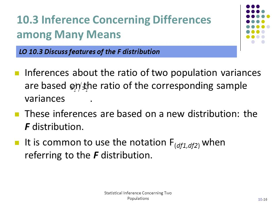 10.3 Inference Concerning Differences among Many Means