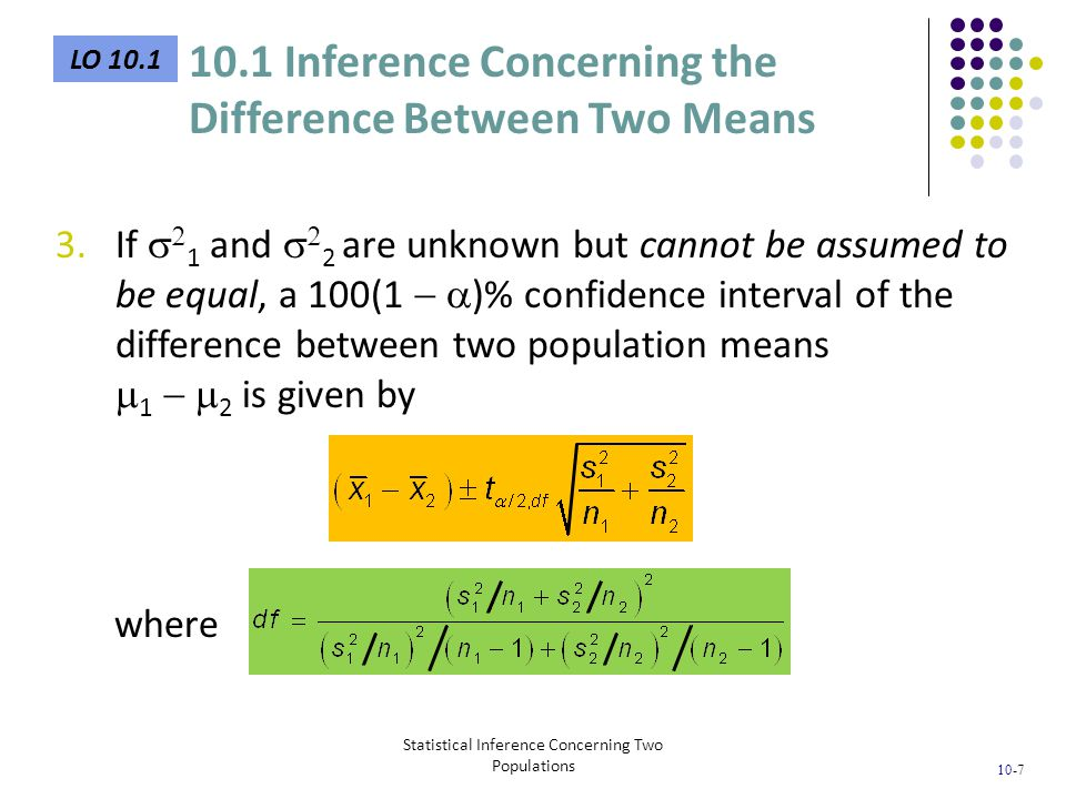 Statistical Inference Concerning Two Populations