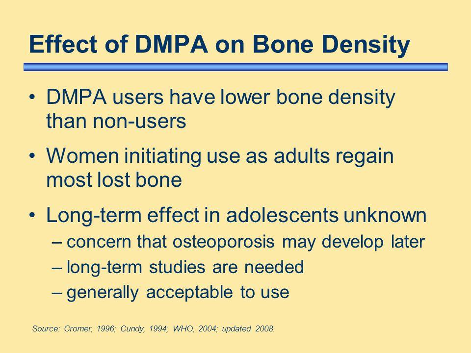 Depot Medroxyprogesterone Acetate Dmpa Side Effects