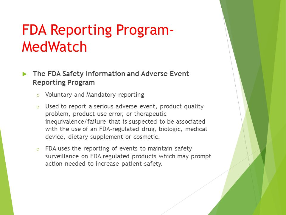 Medwatch 1 | Adverse Effect | Food And Drug Administration