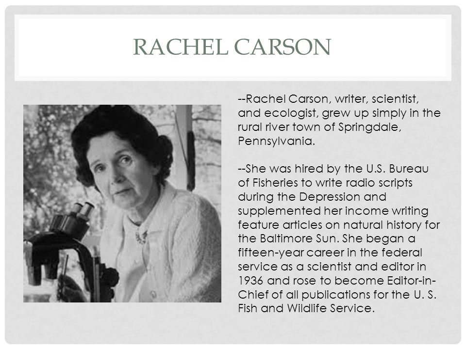 Rachel carson the obligation to endure thesis proposal