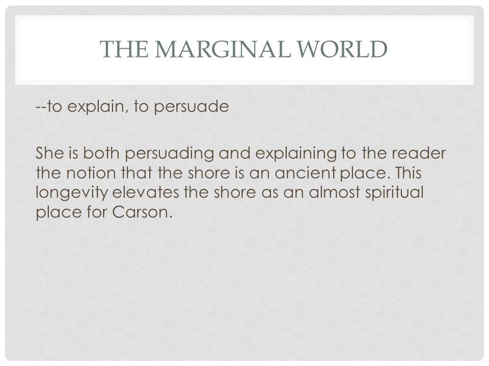 """rachel carson the marginal world On rachel carson's, """"the marginal world """" june."""