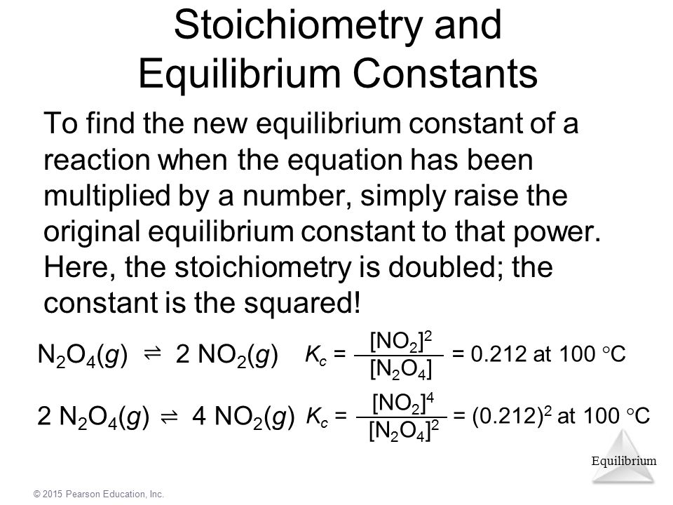 Stoichiometry and Equilibrium Constants