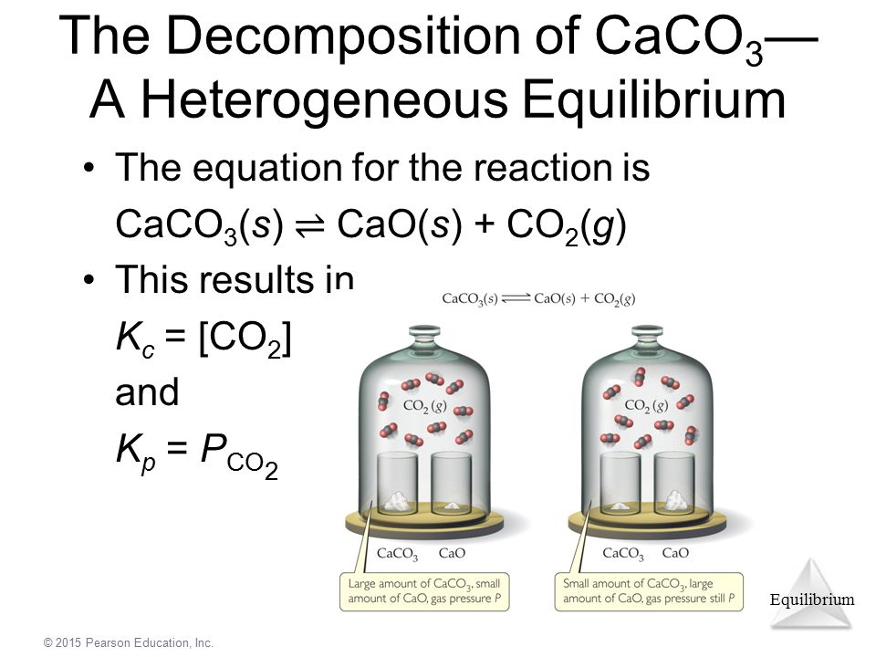 The Decomposition of CaCO3— A Heterogeneous Equilibrium
