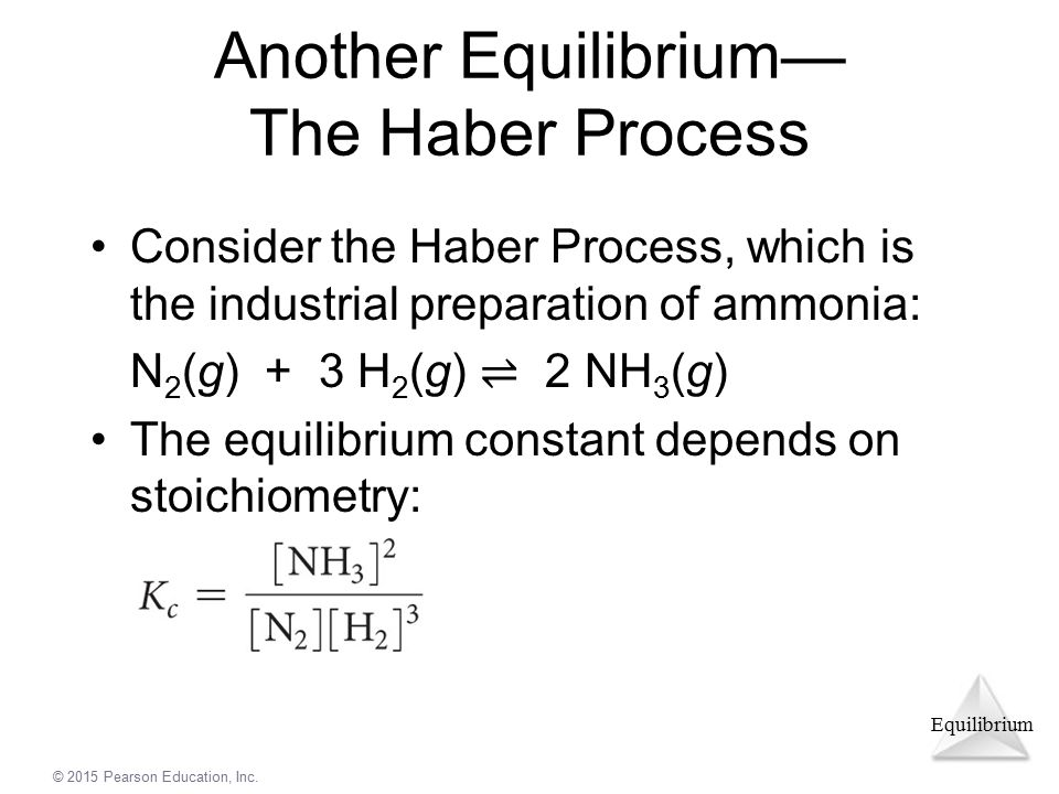 Another Equilibrium— The Haber Process