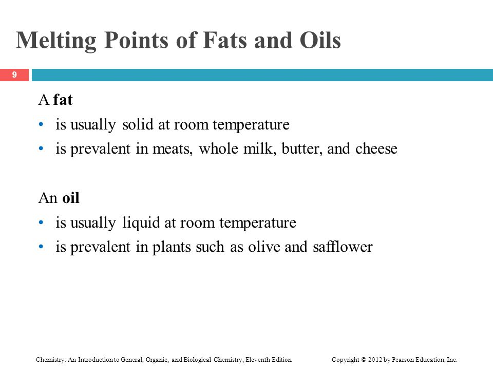 Melting Points of Fats and Oils