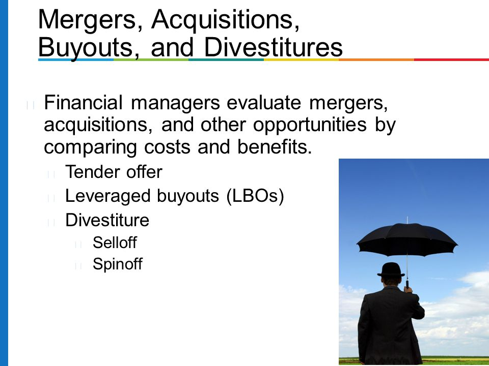 Buyouts, and Divestitures