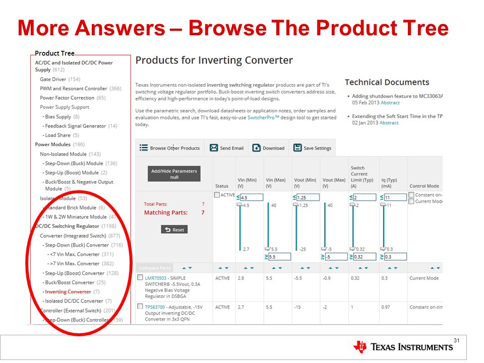 More Answers – Browse The Product Tree