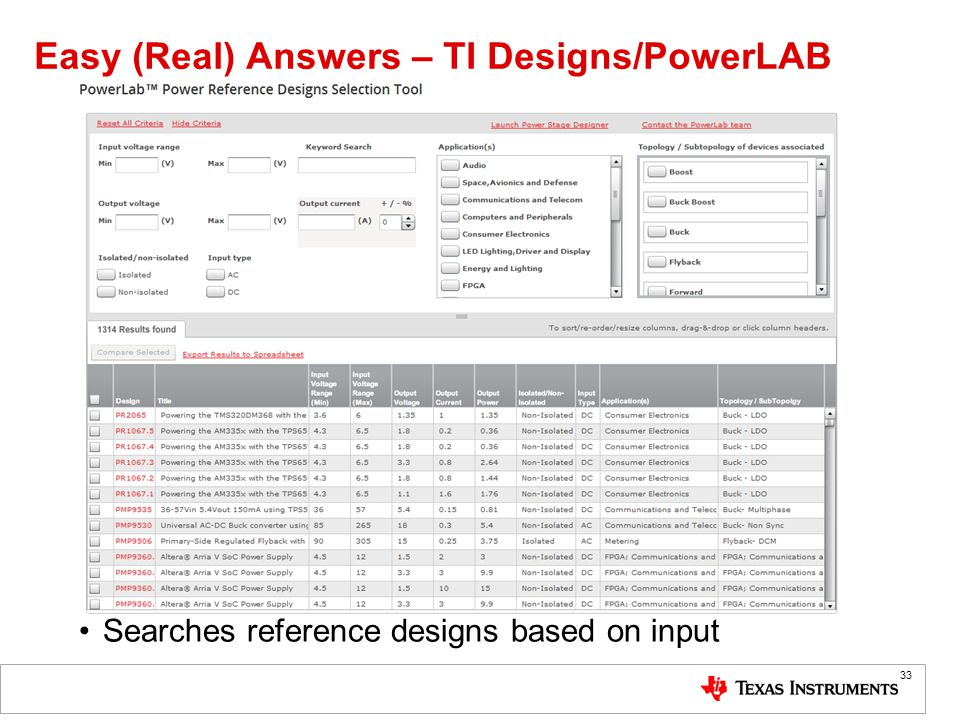 Easy (Real) Answers – TI Designs/PowerLAB