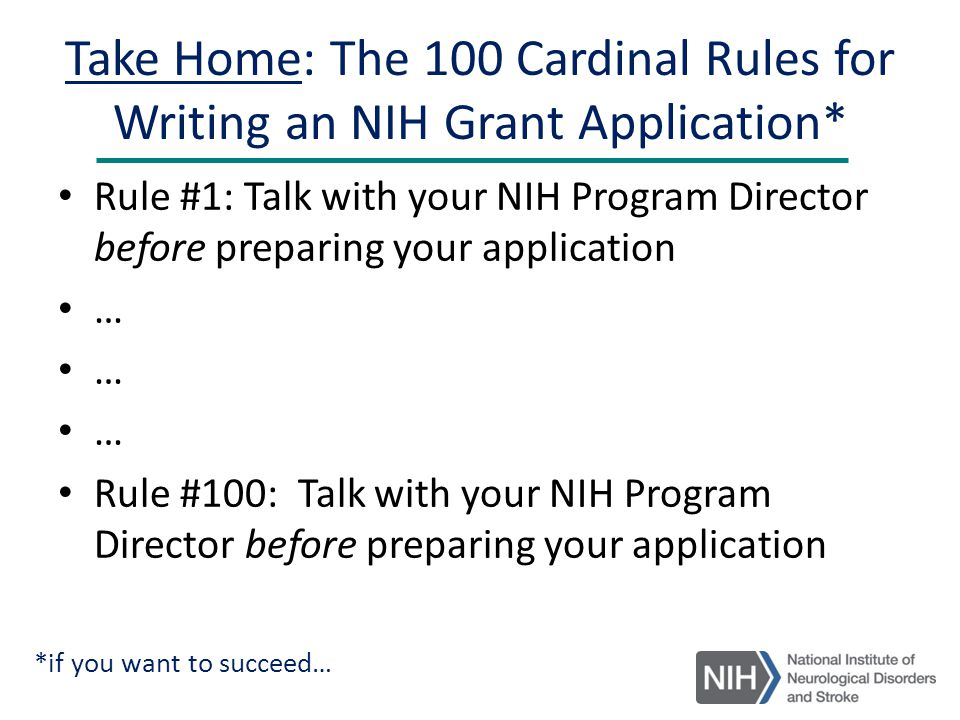 nih grant writing workshop K-grant writing workshop about the program what  be doing patient-oriented clinical/translational research and applying for a k-series grant for the next nih.
