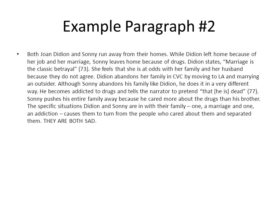 example of paragraph using narration Creative writing can be immensely rewarding both personally and  a poor metaphor can ruin a good paragraph  example 5: casual first person narration.