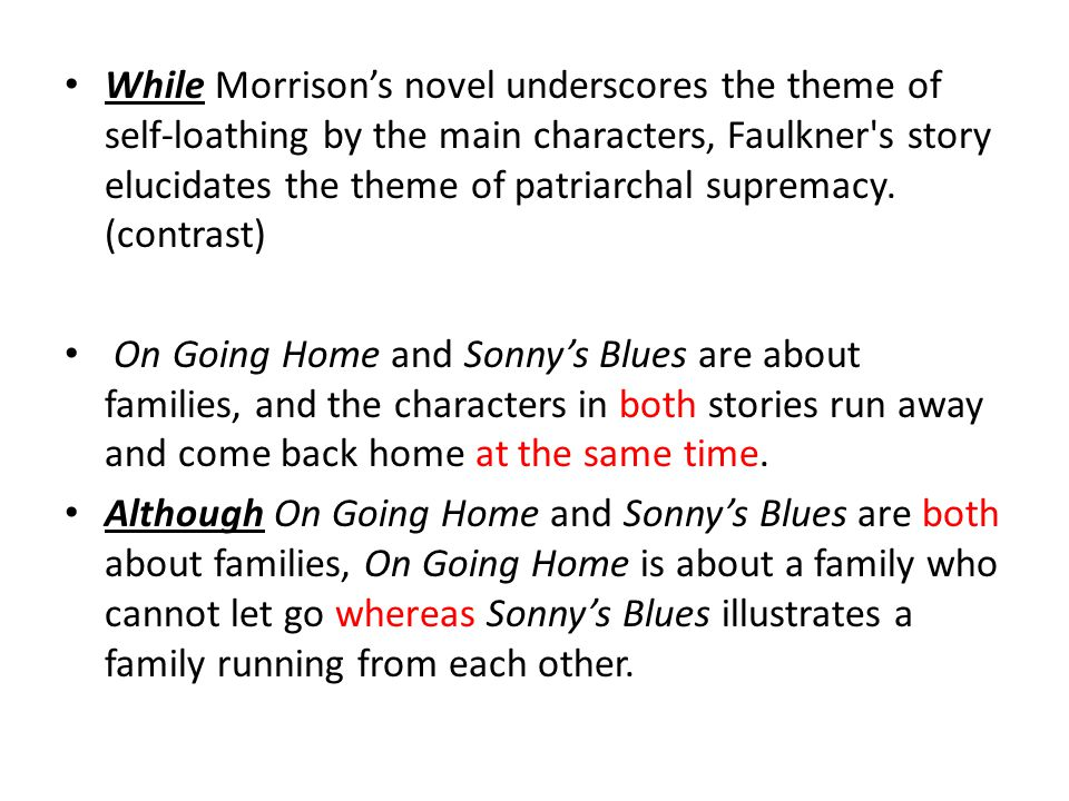 sonny's blues thesis