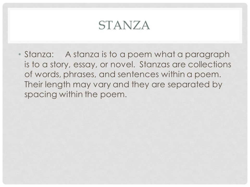 poetry prose figurative language and stanza ppt video online  4 stanza