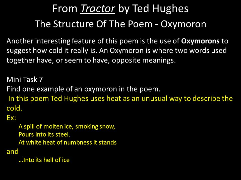 From Tractor By Ted Hughes Ppt Download