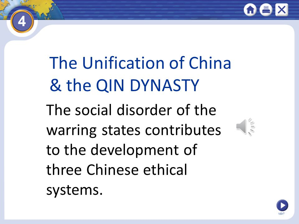 The Unification of China & the QIN DYNASTY