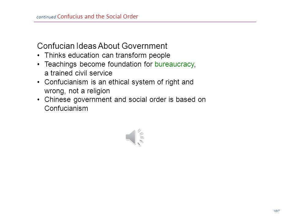 Confucian Ideas About Government