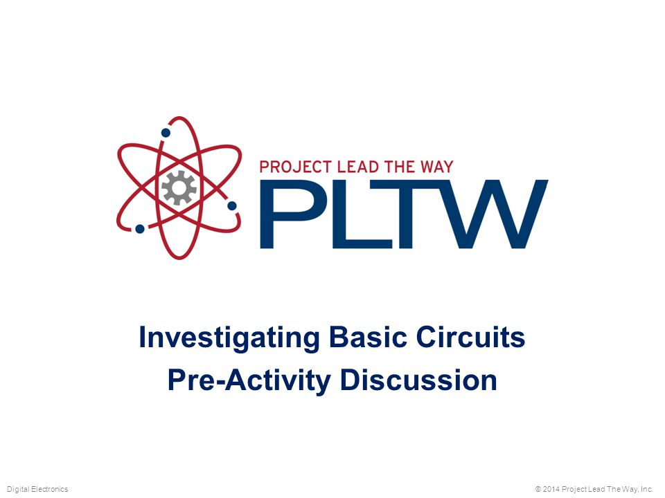 Investigating Basic Circuits Pre-Activity Discussion