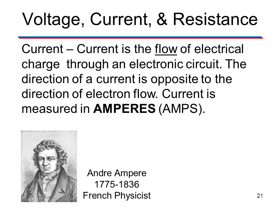Voltage, Current, & Resistance