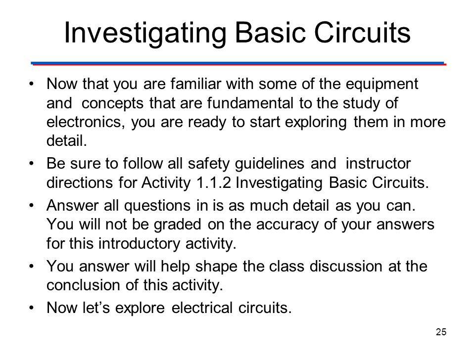 Investigating Basic Circuits