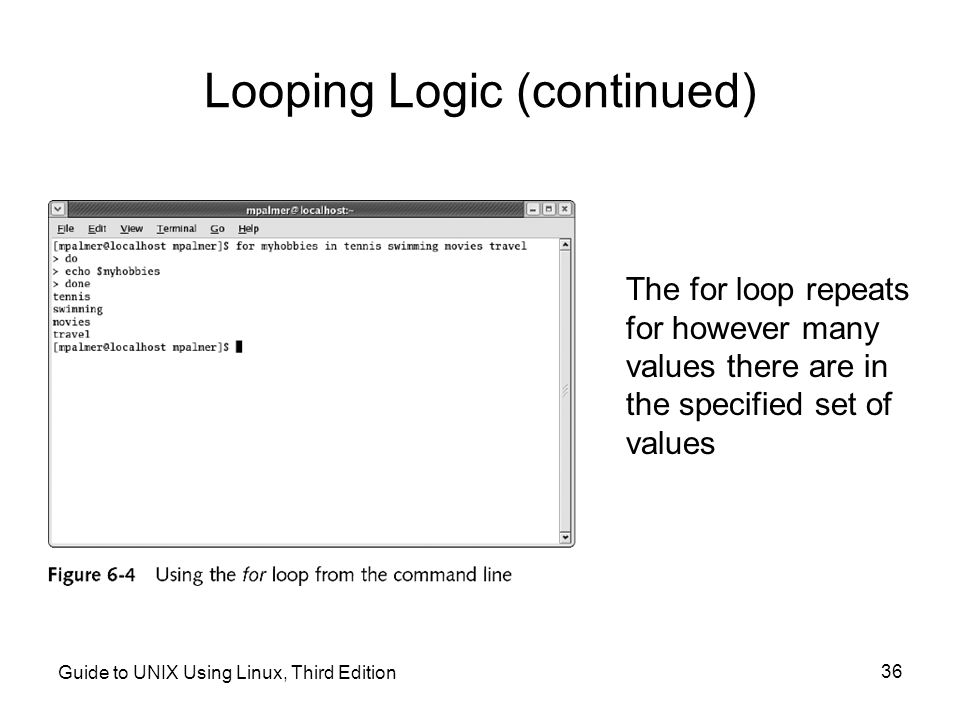 Looping Logic (continued)