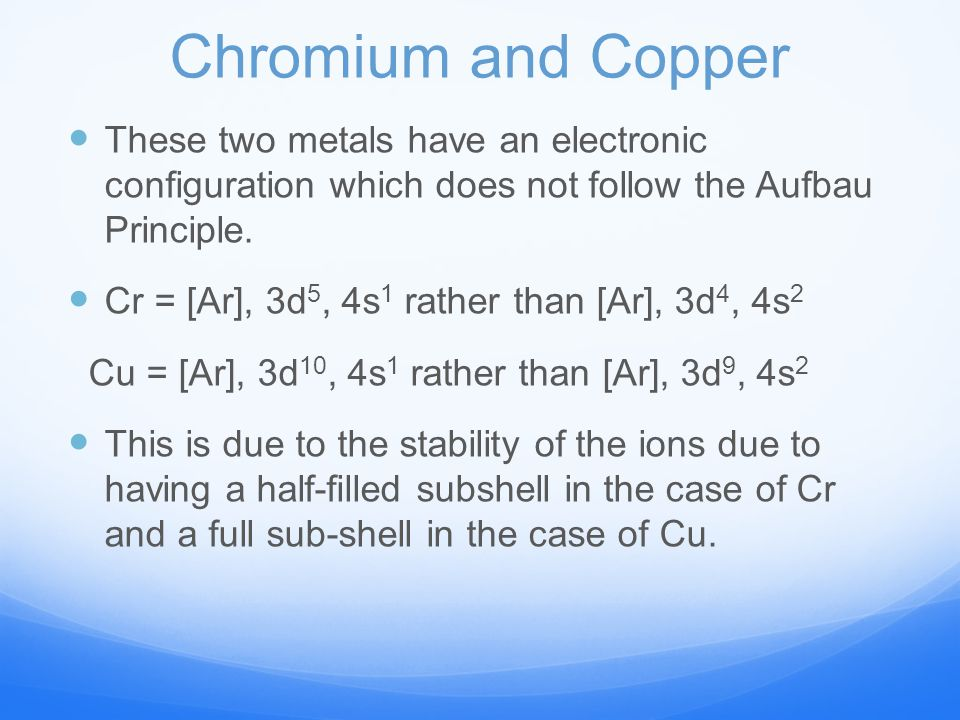 transition metals, oxidations states and numbers - ppt ... aufbau diagram copper gold silver copper phase diagram #9