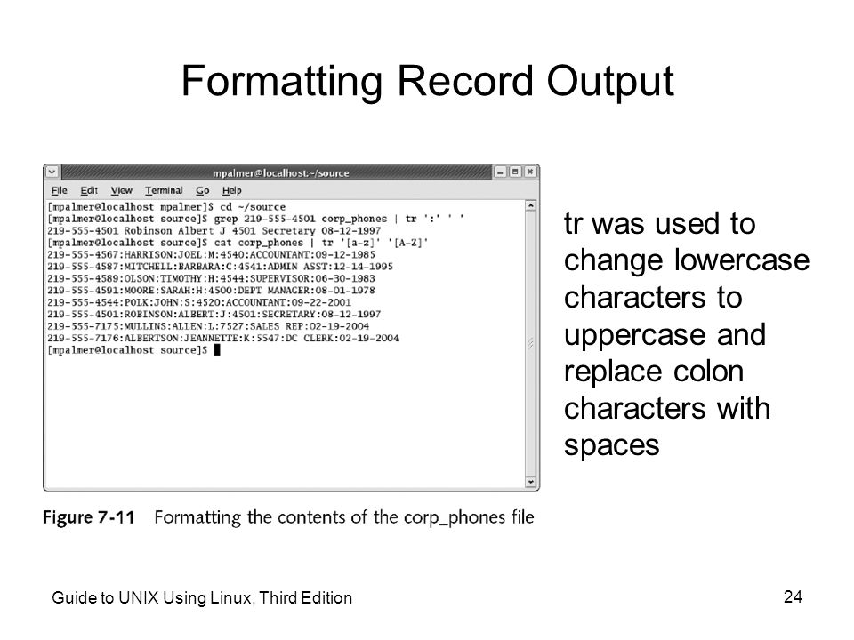 Formatting Record Output