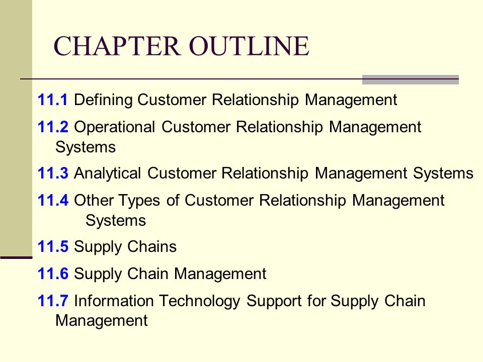 CRM and the Supply Chain