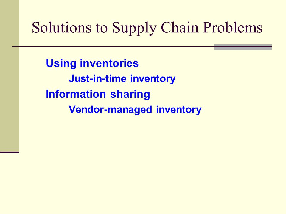 supply chain management and vendor managed inventory Vendor managed inventory systems have may be able to justify the management cost against the potential reward where within the supply chain.