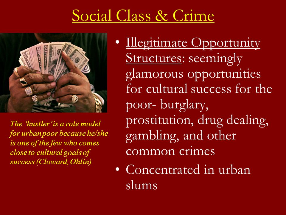 social class and crime relationship