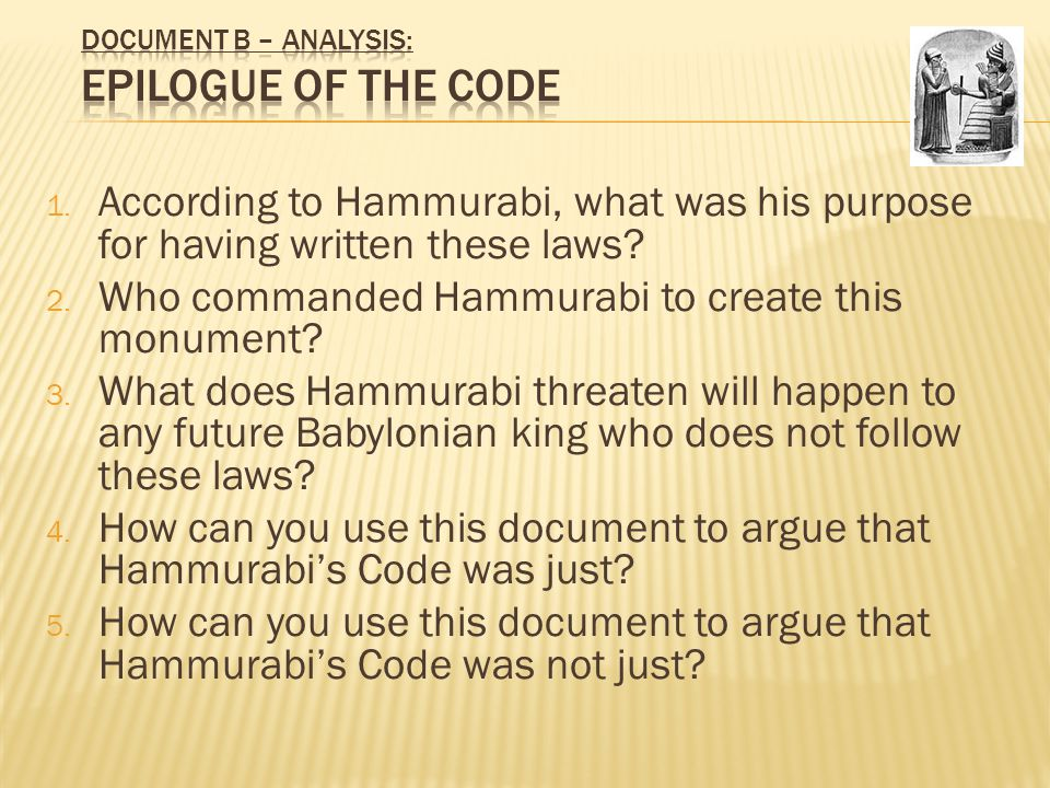 Analysis of hammurabis code