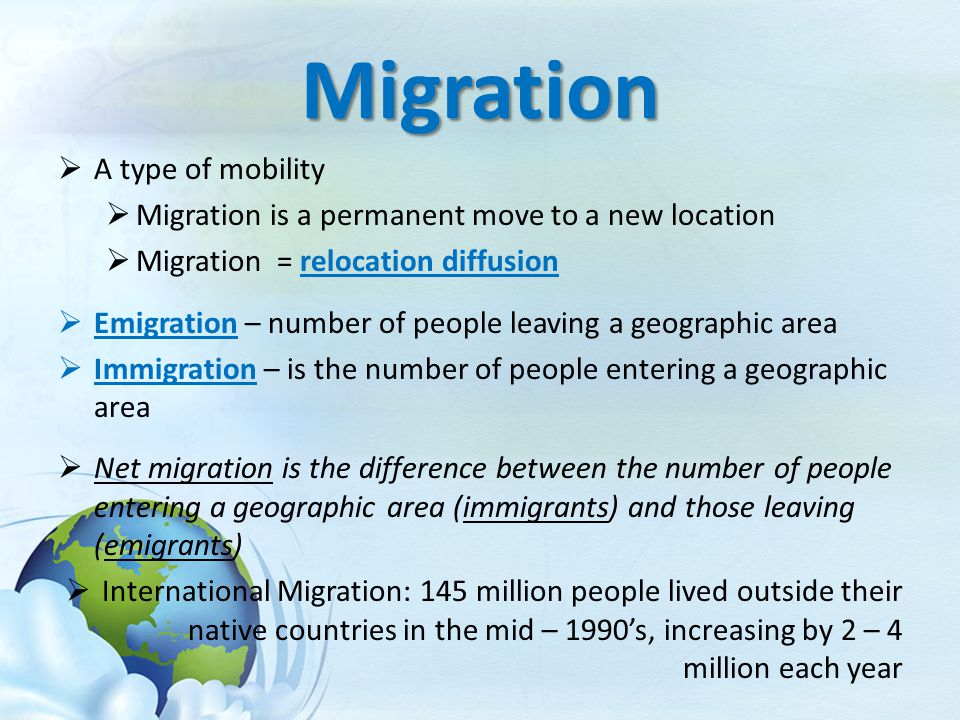 migration immigration and emigration and their The basis of the debate about migration into european countries is the perception that immigrants are unskilled and poor hence, the narrative goes, their arrival hurts the wages and empl.