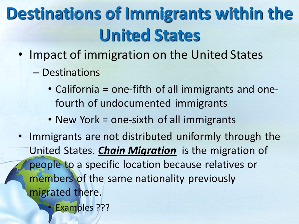immigration human migration and united states 7 facts about world migration  and the united states  immigration laws and demographics combine to create an attractive landing spot for prospective immigrants.