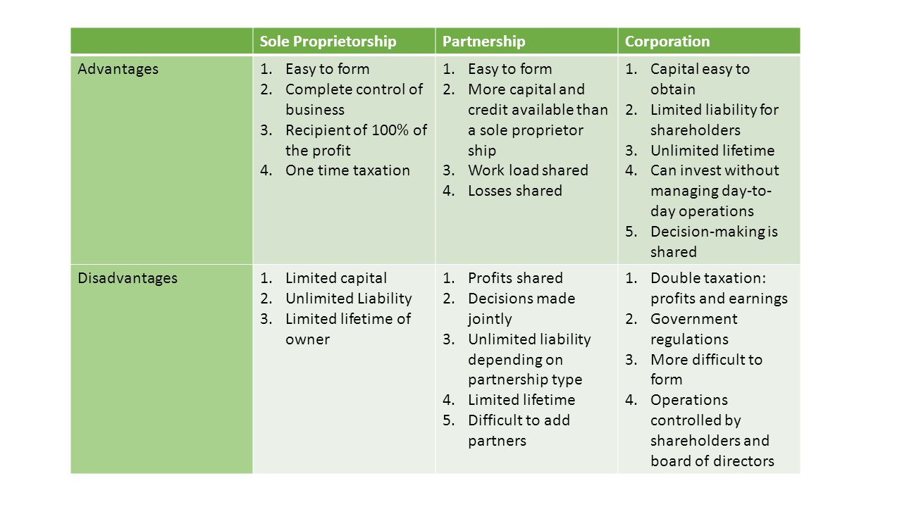 Understanding the Types of Business Ownership - ppt video online ...