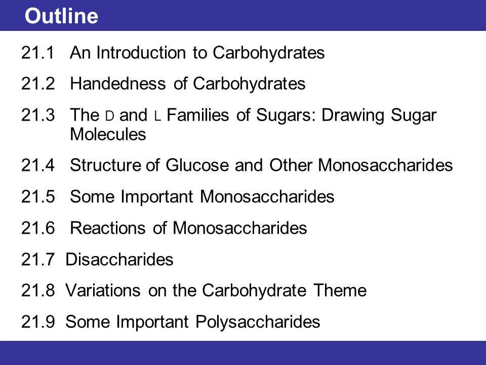 an introduction to the carbohydrates in molecular science R max is easily calculated from the known molecular weights of both carbohydrate and lectin introduction a prerequisite for a the carbohydrate molecule is.