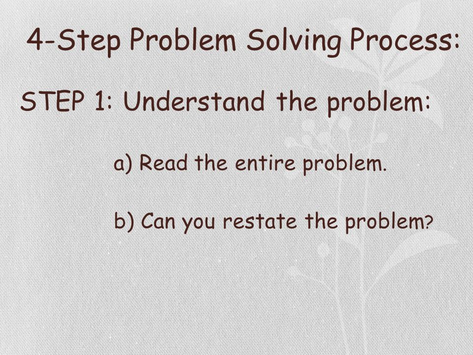 Colorful Step By Step Problem Solver Collection - Math Worksheets ...