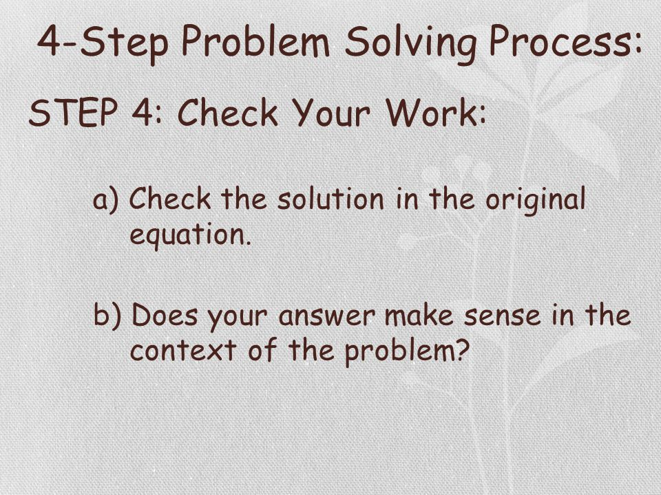 Outstanding Algebra Problem Solving With Solution Adornment - Math ...