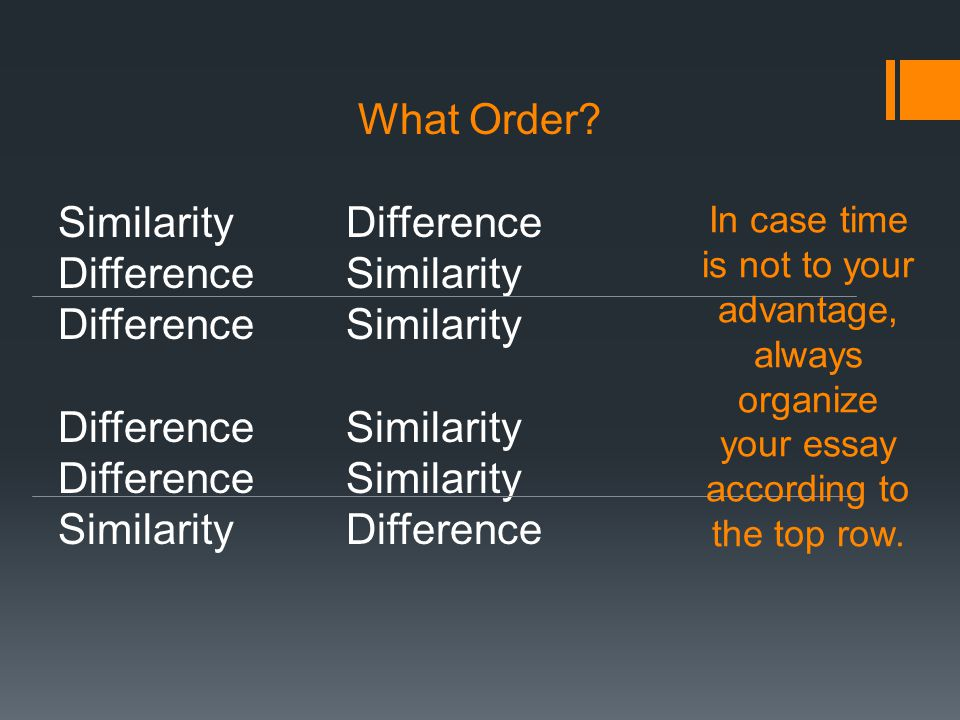 the compare contrast cc essay ppt video online  22 similarity difference difference similarity