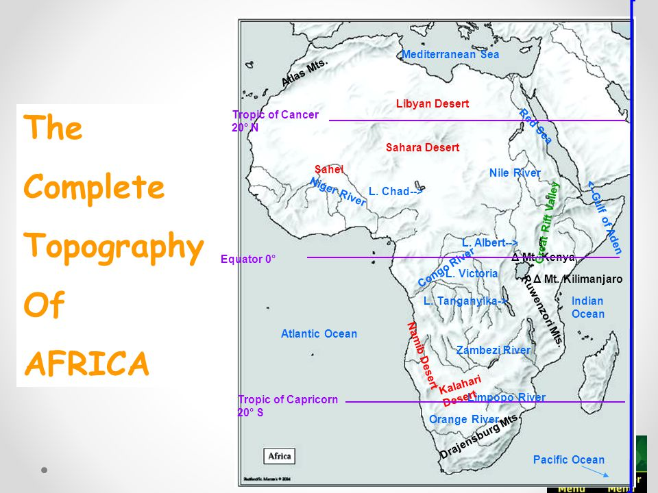 africa map tropic of cancer