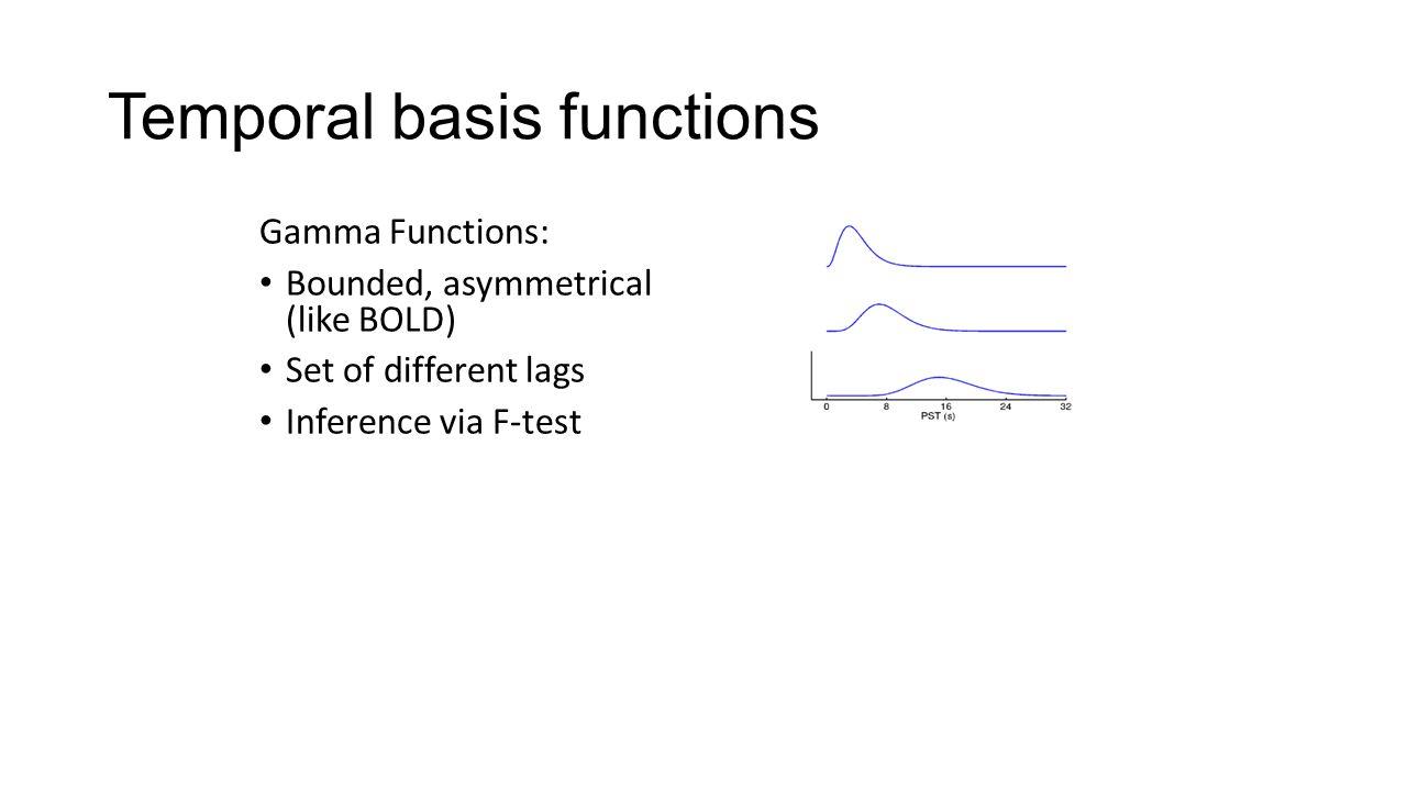 Temporal basis functions